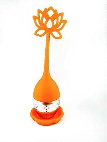 Tea Cutie Lotus Flower Tea Infuser In Morning Orange