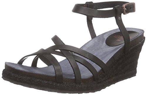 Fred de la BretoniereFred sandalet cross straps rope matching upper wegde  Elda - Sandali a Punta Aperta Donna , Nero (Nero (nero)), 39