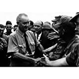 President Lyndon B Johnson Greeting Troops in Vietnam, Photographic Print