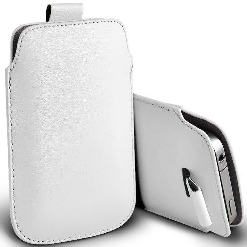 ( White ) Samsung Rex 60 C3312R Schutzkunstleder Pull Tab stilvolle Einbau Beutel-Kasten-Abdeckung Haut durch Fone-Case
