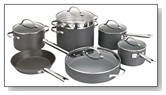 Hard Anodized Nonstick Cookware Set