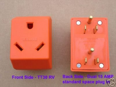 Very Cheap Watt Generator discount: Dual 15 - 30 AMP RV adapter for ...