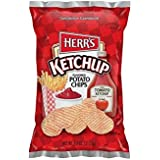 Herr's Potato Chips, Ketchup Flavored, 1 Oz. (Pack of 42)