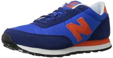 New Balance Men's ML501 Team Spirt Classics Running Shoe,Blue/Red,7.5 D US