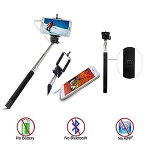isunnao selfie stick self shooting monopod extendable handheld portrait monopod. Black Bedroom Furniture Sets. Home Design Ideas