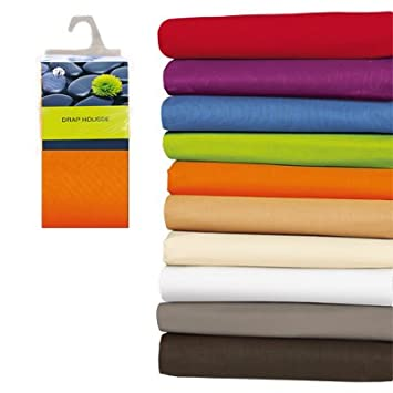 drap housse 200x200 200x200 100 coton orange cuisine maison m372. Black Bedroom Furniture Sets. Home Design Ideas