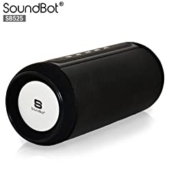 SoundBot SB525 Bluetooth 4.0 Wireless Speaker for 15 hrs Music Streaming&Hands-Free Calling,7W+7W Driver Speakerphone,Built-in Mic,3.5mm Audio Port, 4000mAh Lithium-ion Rechargeable Battery