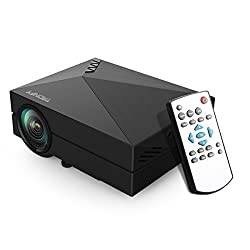 Projector, Syhonic I3 Mini Portable HD Multimedia Home Theater Cinema LCD LED Video HDMI Micro Projector for iPhone Galaxy Laptop Mac (Black)