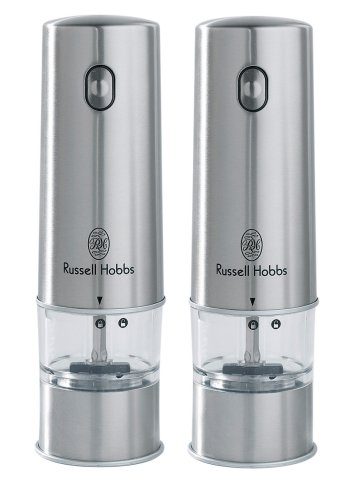 Russell Hobbs 12051-56 Battery Powered Salt And Pepper Grinders In Stainless Steel