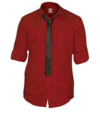 Drill York Youth Button Down Shirt and Tie Combo