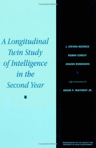 A Longitudinal Twin Study Of Intelligence In The Second Year (Monographs Of The Society For Research In Child Development) front-1020434