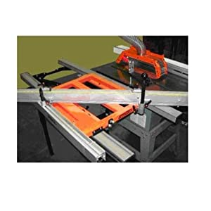 Best Sale Exaktor Ex26x Table Saw Large Open Grid Sliding System With Guide Rails Fence Table