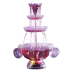 Click to buy Lighted 1-Gallon 3-Tiered Party Fountain with 8 Cups from Amazon!
