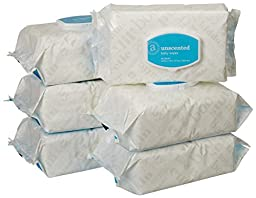 Amazon Elements Baby Wipes, Unscented, Flip-Top, 480 Count