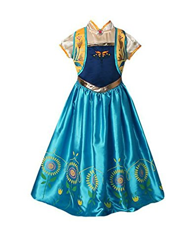 American-Vogue-ANNA-ELSA-FROZEN-FEVER-Girls-Birthday-Dress-Costume