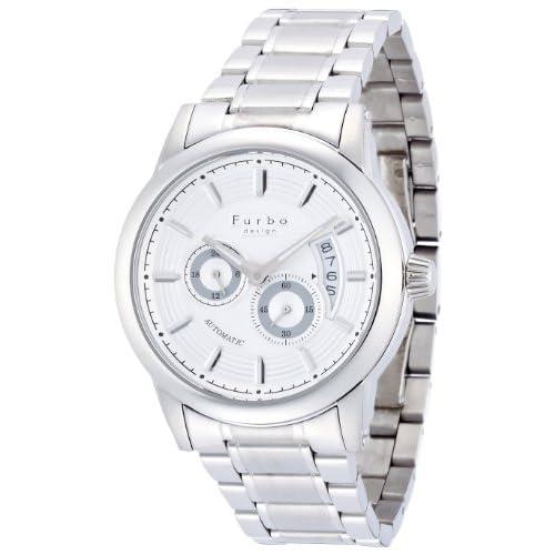 [フルボデザイン]Furbo design 腕時計 F9010 自動巻き シルバー文字盤 ステンレススチール メンズ F9010SISS メンズ