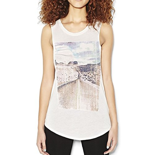 Mi'an Great Value Dailywear Fast Fashion Inspired By H&m Women's Tunic Tank White Size M