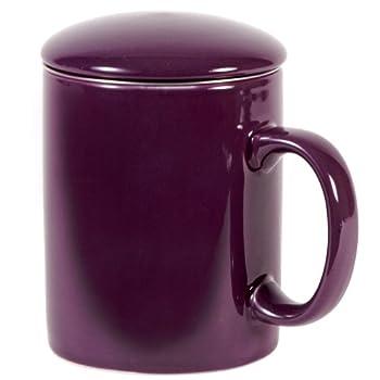 Aubergine Infuser Mug