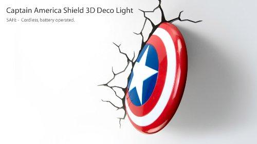 Captain America Shield 3D Light