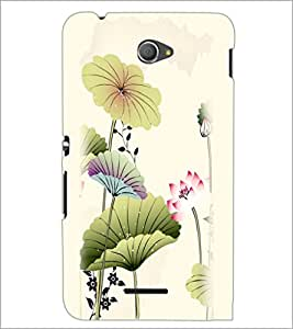 PrintDhaba Floral Design D-2026 Back Case Cover for SONY XPERIA E4 (Multi-Coloured)