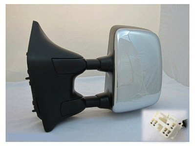 DRIVER SIDE DOOR MIRROR Fits Nissan Titan POWER WITH HEATED GLASS; CHROME; BIG TOW PACKAGE; SE MODEL (Titan Tow Package compare prices)