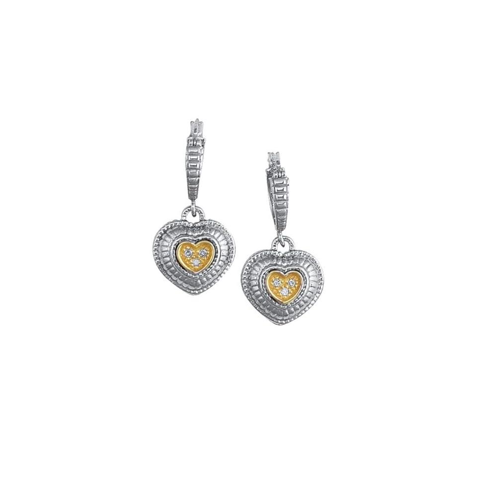 Phillip Gabriel Collection   18K Gold & Sterling Silver Earrings Hoop Earrings Jewelry