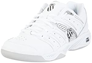 K-Swiss UPROAR IV CARPET 92743-102-M, Damen Sportschuhe - Tennis, Weiss (White / Black), EU 37 (UK 4)
