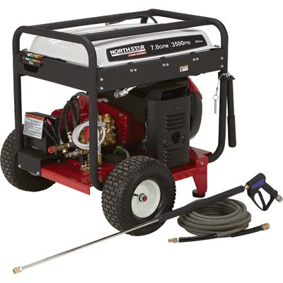 - Northstar Super High Flow Gas Cold Water Pressure Washer - 7.0 Gpm, 3500 Psi, Electric Start, Honda Engine, Belt Drive, Model# 1572092