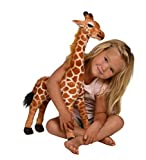 Kangaroo Stuffed Giraffe - Toy Plush Giraffe- 2' High, Neck Moves