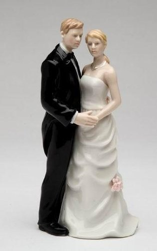 Cosmos 96637 Fine Porcelain Wedding Couple Gifts Figurine, 5-3/4-Inch