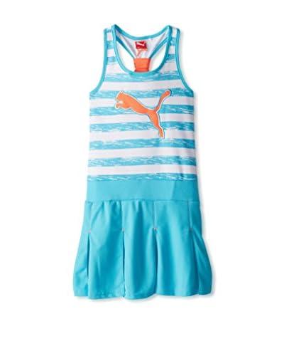 PUMA Girl's 7-16 Striped Pleated Tank Dress