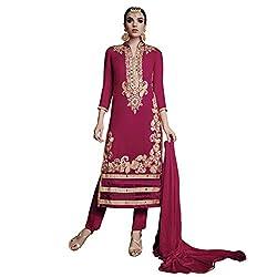 Pari Presents Dark Pink Coloured Dress Material