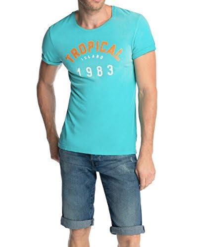 edc by Esprit T-Shirt Manica Corta Slim Fit [Turchese]