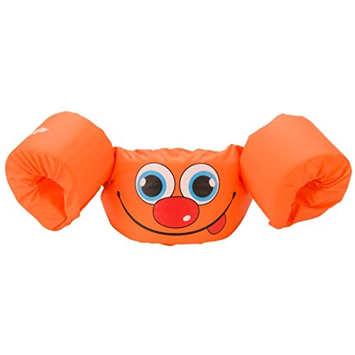 Stearns Puddle Jumper Basic Life Jacket, Orange Smile, 30-50 lbs