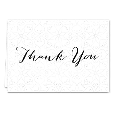 Boho Spirit Thank You Card Assortment Pack - Set of 36 cards blank inside - 4 designs blank inside - with white envelopes