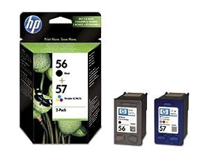 HP 56 2er-Pack schwarz/57 cyan/magenta/gelb Original Tintenpatrone