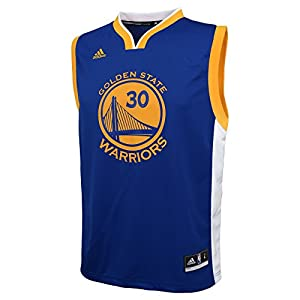 NBA Golden State Warriors Curry S # 30 Boys 8-20 Replica Road Jersey, Small (8), Blue
