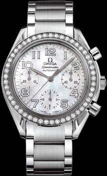 Omega Women's 3535.70.00 Speedmaster Diamond Bezel Watch