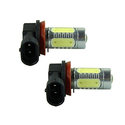 Voberry 2Pcs 7.5W Xenon Bright White 6000K H11 Led Light Bulb Fog Daytime Driving Lamp