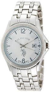 U.S. Polo Assn. Classic Men's USC80008 Rimmed Bezel Silver Dial Bracelet Watch