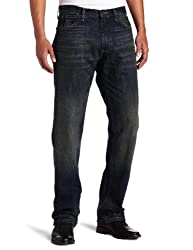 Nautica Jeans Men's Relaxed Cross Hatch Jean, Rigger Blue, 33Wx34L