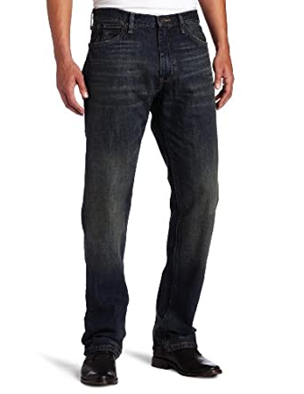 Nautica Jeans Men's Relaxed Cross Hatch Jean, Rigger Blue, 30Wx32L