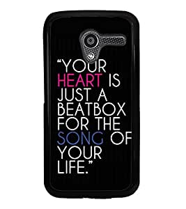 Life Quote 2D Hard Polycarbonate Designer Back Case Cover for Motorola Moto X :: Motorola Moto XT1052 XT1058 XT1053 XT1056 XT1060 XT1055