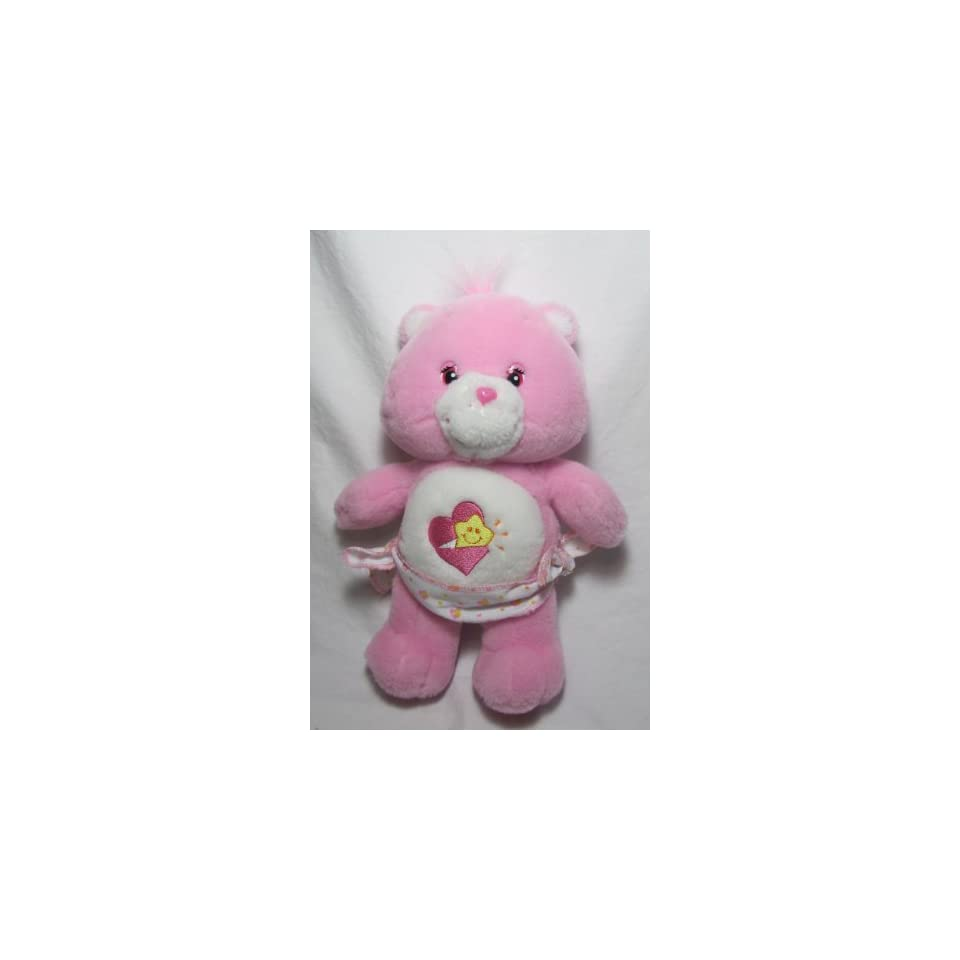 2002 CARE BEARS BABY HUGS Plush toy/doll with diaper 11
