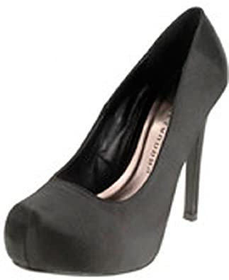 Chinese Laundry Women's Whistle Platform Pump,7 B(M) US,Midnight Black Satin.Black Satin