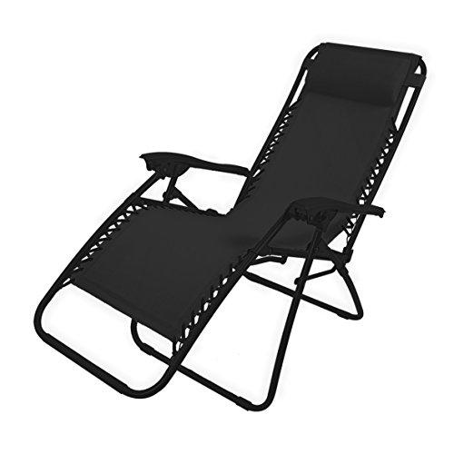 garden-kraft-24010-benross-deluxe-tumbona-con-cojin-tejido-impermeable-color-negro