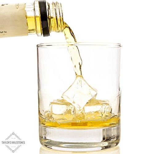 milestones scotch glasses 10 oz whiskey glass set of 2 old fashioned glassware tumblers - Whiskey Glass Set
