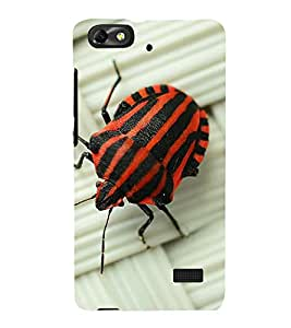 printtech Nature Bug Red Back Case Cover for Huawei G Play Mini