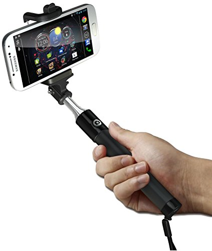 selfie stick cellever new generation extendable bluetooth monopod with built in remote. Black Bedroom Furniture Sets. Home Design Ideas