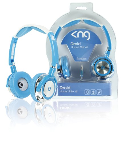 KNG Droid Human After All Designer Headphones - Blue